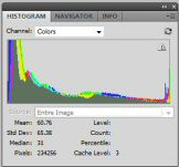 capture dynamic range - histogram